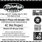 KC Pet Project 4 for 40 Coupon