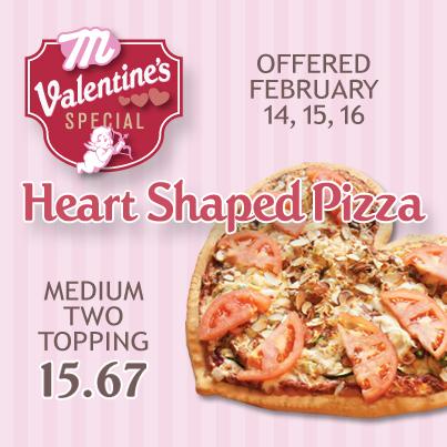 Minsky S Heart Shaped Pizzas Are Back Minsky S Pizza