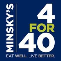Minsky's 4 for 40 logo