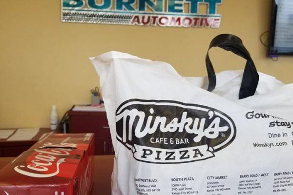 Minsky's delivers to Burnett Automotive