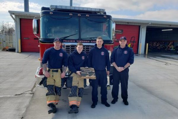 Minsky's delivers to Prairie Township Fire Dept.
