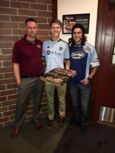 Graham Zusi and Connor Christians at Minsky's Pizza