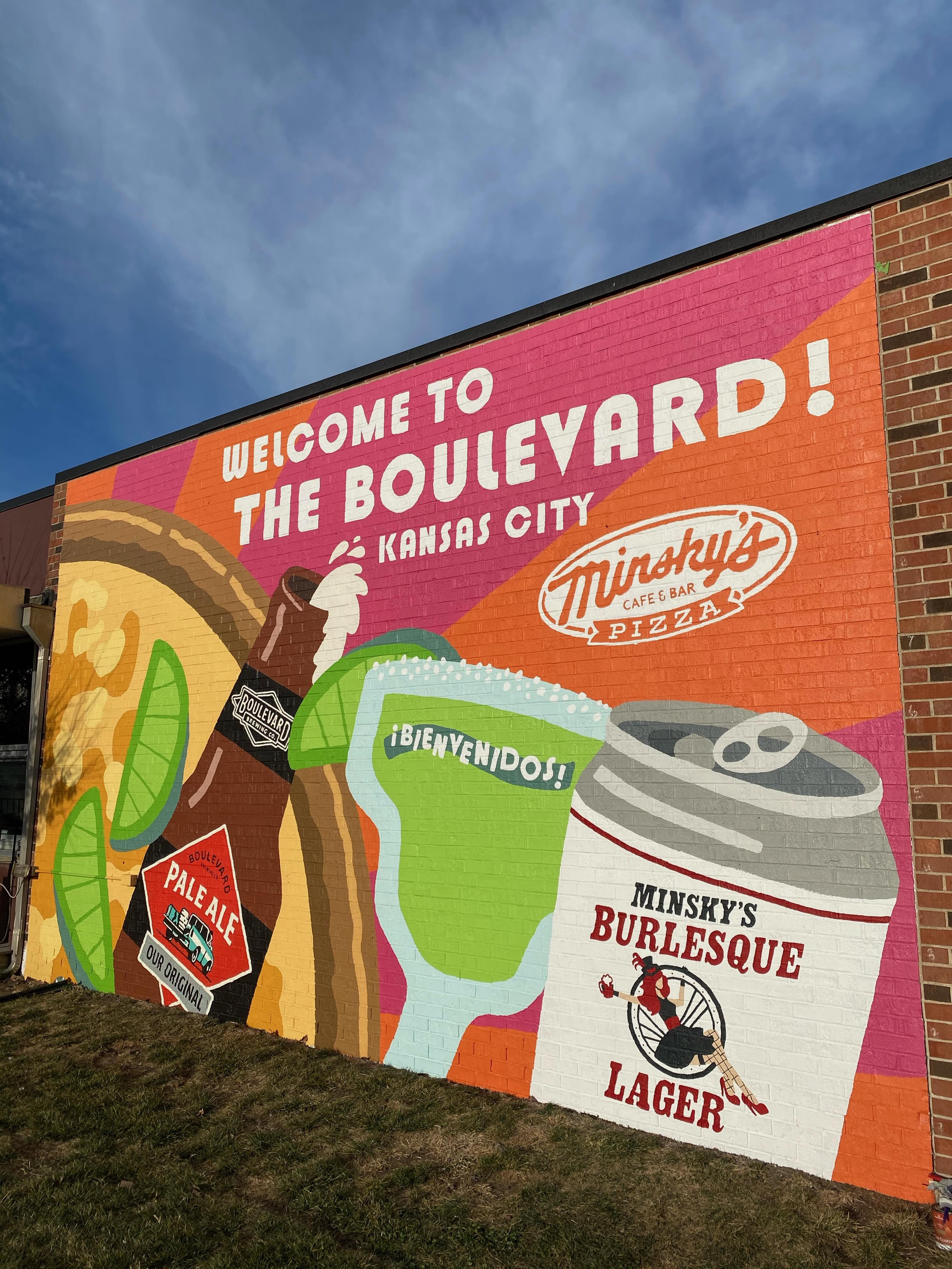 Welcome to the Boulevard! Minsky's Gets a new Mural!