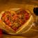 Minsky's Valentine's Day Heart-Shaped Pizza