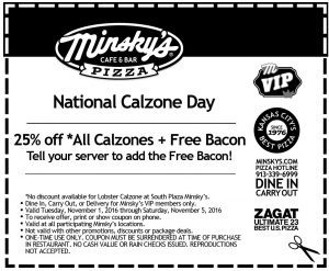 National Calzone Day Coupon