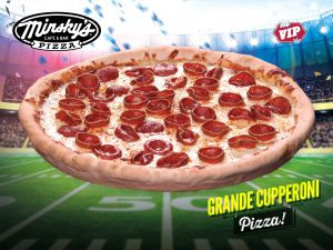 Grande Cupperoni Playoff Pizza Party Time Minskys