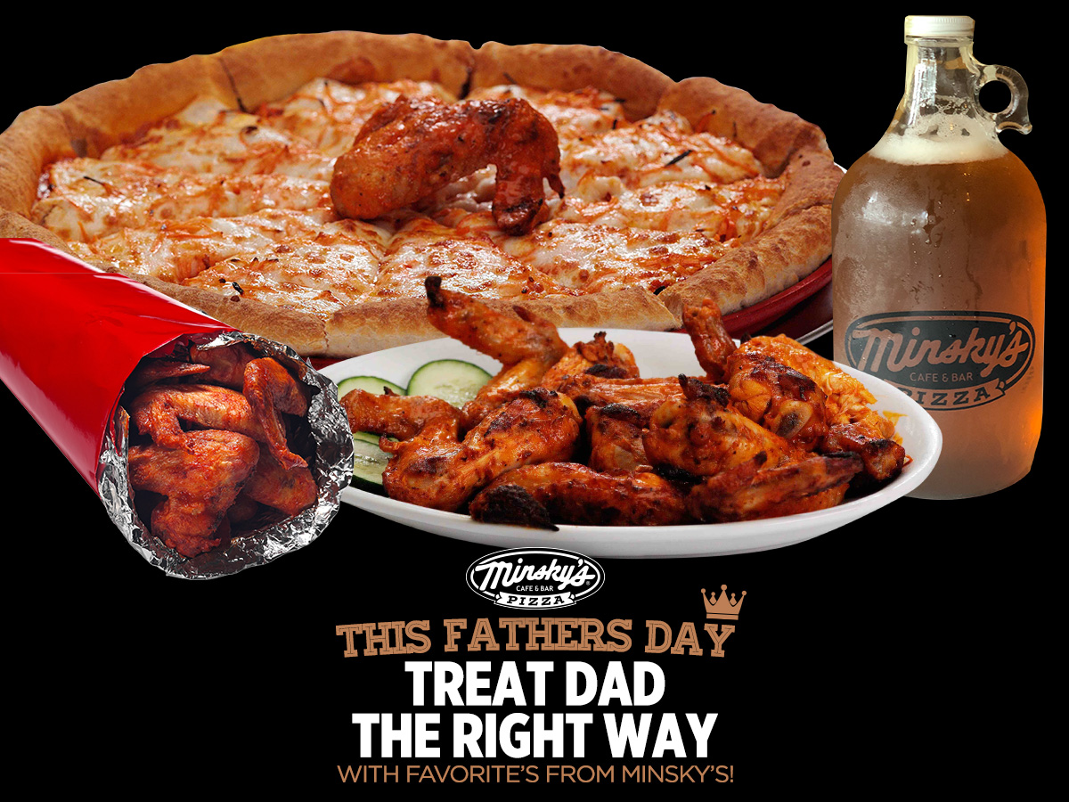 pizza wings and beer