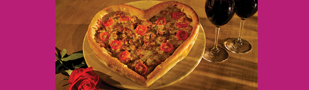 Sparks Fly This Valentine's Day with Heart-Shaped Pizzas!